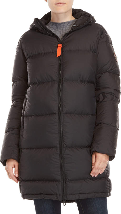 Charli Gertrude + Gaston Hooded Quilted Down Coat