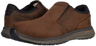 Timberland Drivetrain Slip-On Composite Safety Toe (Brown Leather) Men's Shoes