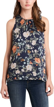 Vince Camuto Nevada Bouquet Floral Sleeveless Blouse