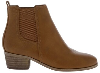 Miss Shop Baker Tan Heeled Ankle Boot