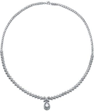 Genevive Silver Cz Necklace