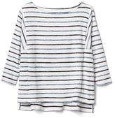 Softspun boxy stripe batwing top