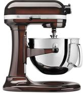 KitchenAid Professional 600 Series 6 Qt. Bowl Lift Stand Mixer with Pouring Shield in Espresso