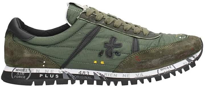 Premiata Green Fabric Sean Sneaker