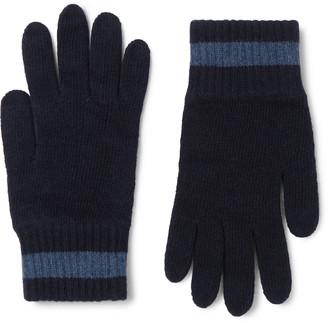 Oliver Spencer Striped Wool-Blend Gloves