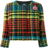 Class Roberto Cavalli houndstooth cropped jacket