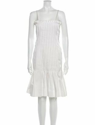 Fendi Square Neckline Knee-Length Dress White