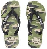 Havaianas Top Camo Flip-Flop (Toddler/Little Kid/Big Kid) (Beige/Black) Boys Shoes