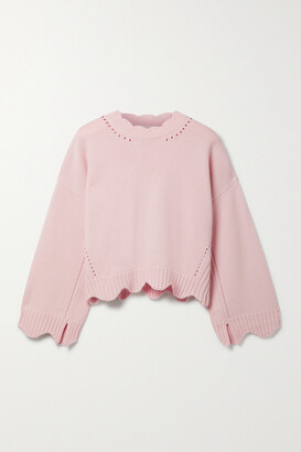 3.1 Phillip Lim - Scalloped Pointelle-knit Wool And Cashmere-blend Sweater - Pink