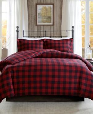 Woolrich Flannel Full/Queen 3 Piece Check Print Cotton Duvet Cover Set