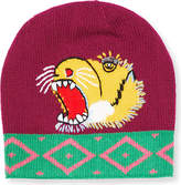 Gucci Tiger-embroidered Knit Beanie