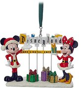 Disney Santa Mouse with Disneyland Marquee Figural Ornament