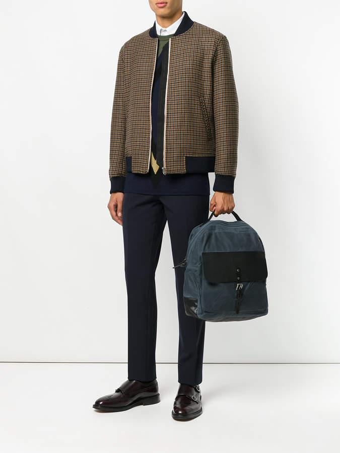 Ally Capellino zip-top buckle backpack