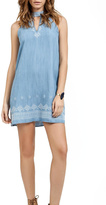 Blu Pepper Embroidered Short Dress