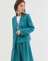 Asos asymmetric suit jacket