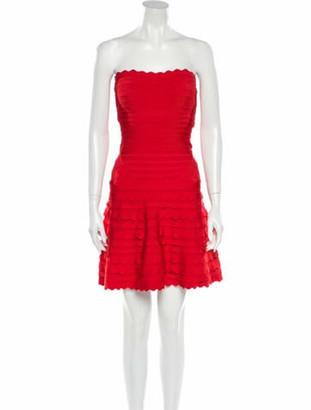 Herve Leger Phoebe Mini Dress Red
