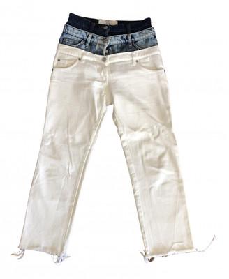 Natasha Zinko White Cotton Jeans