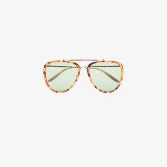 Gucci Tortoiseshell-Effect Aviator Sunglasses