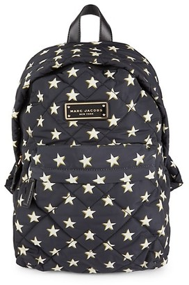 Marc Jacobs Star-Printed Quilted Backpack