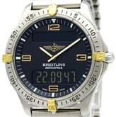 Breitling Aerospace F56062 Titanium & 18K Yellow Gold Quartz 40mm Mens Watch