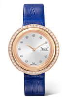 Piaget Possession Alligator, 18-karat Rose Gold Diamond Watch
