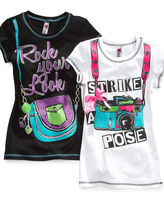 Beautees Kids T-Shirt, Girls Sparkle Graphic Tee