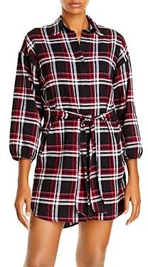 Aqua Plaid Shirt Dress - 100% Exclusive