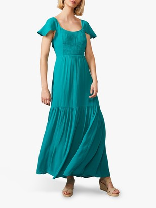 Phase Eight Dauphine Cap Sleeve Maxi Dress, Blue