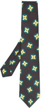Kiton Geometric Print Silk Tie