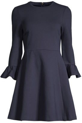 Kate Spade Ponte Bell-Sleeve Dress