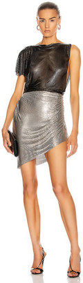 Fannie Schiavoni Ciara Dress in Silver & Black | FWRD