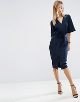 Asos Clean Obi Wrap Dress with V Front