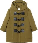 Burberry Logo Detail Wool Cashmere Blend Duffle Coat