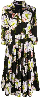 Samantha Sung Blake floral print shirt dress