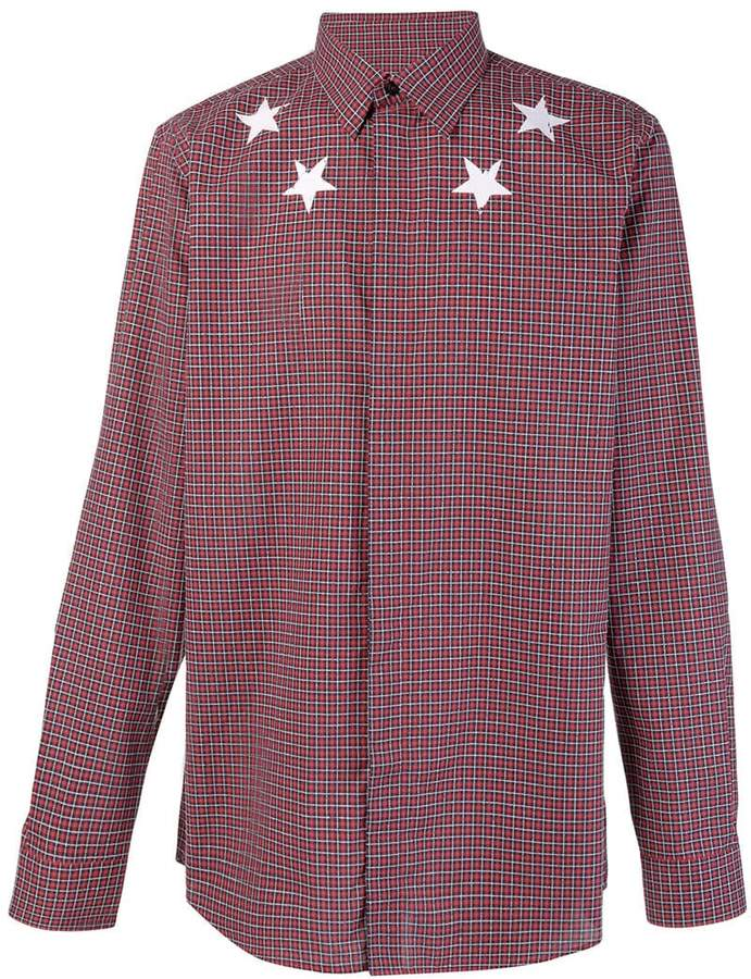 Givenchy checkered star printed shirt