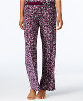 Alfani Satin-Trimmed Printed Pajama Pants, Only at Macy's