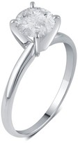 1.0 CT. T.W. IGL certified Round-cut Diamond Solitaire Prong Set Ring in 14K White Gold (HI-I3)