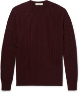 Burberry - London Slim-fit Cable-knit Cashmere Sweater