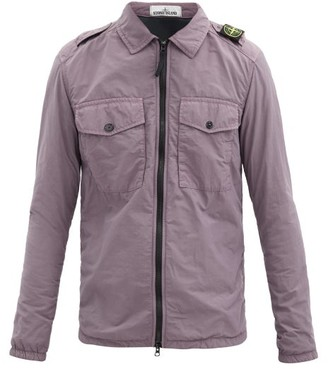 Stone Island Logo-patch Zip Shirt Jacket - Purple