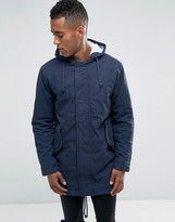 Jack and Jones Hooded Parka with Fleece Lining