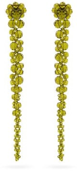 Simone Rocha Drip Crystal-embellished Earrings - Green