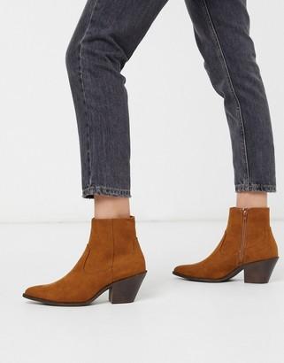 New Look western heeled boots in tan