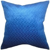 "The Pillow Collection P20-D-36166-ROYALBLUE-VELVET Brielle Solid Pillow, Blue Velvet, 20"" x 20"""
