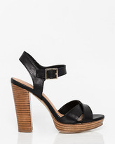 Le Château Leather Criss-Cross Platform Sandal