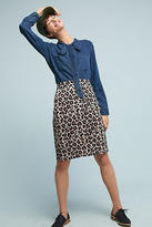 Maeve Leopard Pencil Skirt