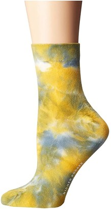 Richer Poorer Psych (Sage/Yellow) Women's Crew Cut Socks Shoes