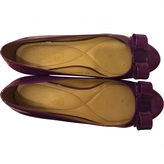 Salvatore Ferragamo Purple Leather Flats