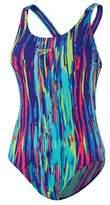 Speedo Women's Rainbow Eucalyptus Leaderback One Piece Swimsuit