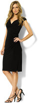 Lauren Ralph Lauren Petite Cap-Sleeve Empire-Waist Jersey Dress