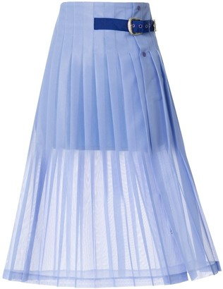 Toga Pleated Belt Skirt